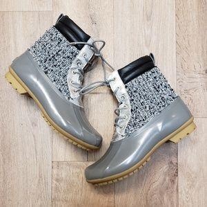 Sam Edelman Caldwell Waterproof Silver Duck Boots